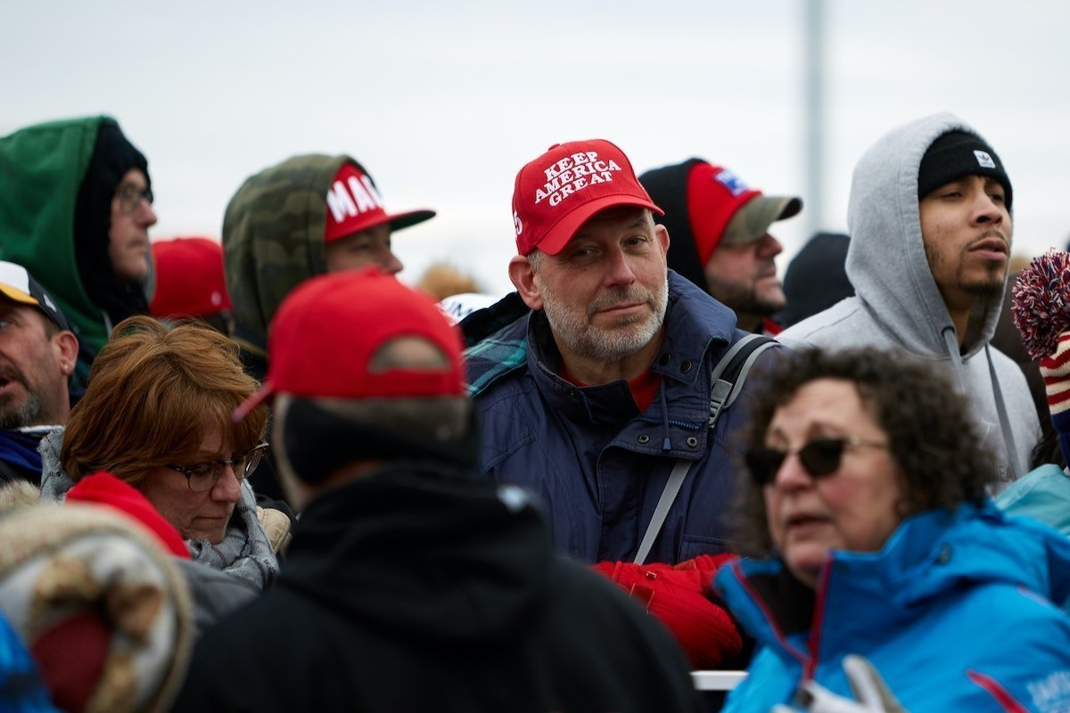 people at a Trump rally