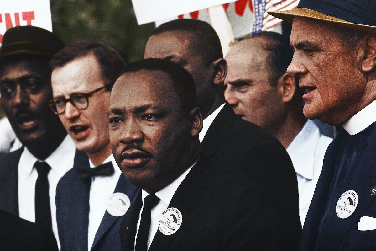 MLK with other civil rights leaders