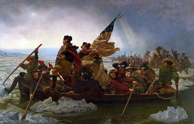 George Washington crosses the Delaware as a servant leader